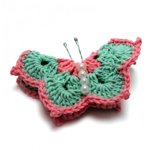 Crochet Brooch Butterfly