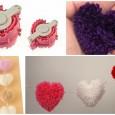 Heart shape pom-pom