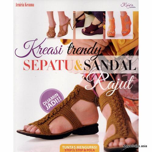 Buku kreasi sepatu sandal rajut