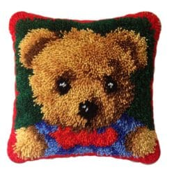 Latch Hook Kit Bantal Teddy Bear 40X40cm L08