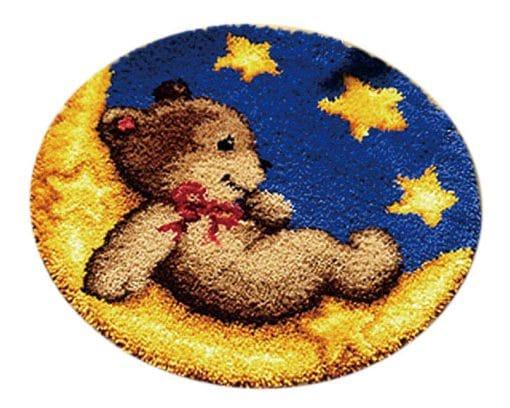 Latch Hook Kit Karpet Beruang 50X50cm L09 1