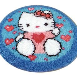 Latch Hook Kit Karpet Hello Kitty 50X50cm L13