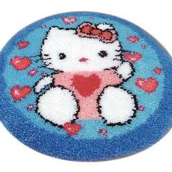 Latch Hook Kit Karpet Hello Kitty 50X50cm L13
