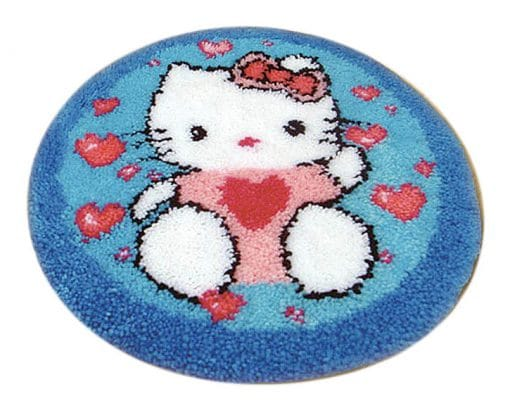 Latch Hook Kit Karpet Hello Kitty 50X50cm L13 1