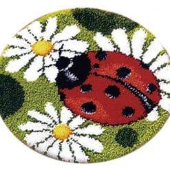 Latch Hook Kit Karpet Ladybug 50X50cm Print L21