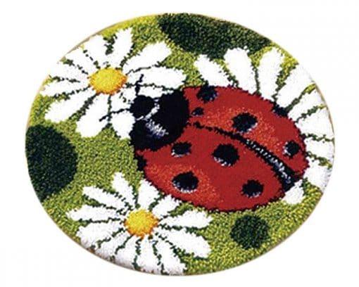 Latch Hook Kit Karpet Ladybug 50X50cm Print L21 1