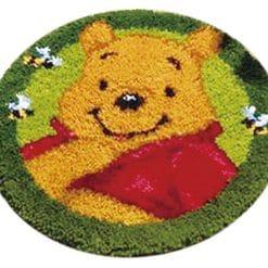 Latch Hook Kit Karpet Pooh 50X50cm Print L22