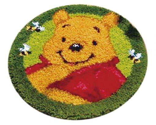 Latch Hook Kit Karpet Pooh 50X50cm Print L22 1
