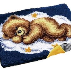 Latch Hook Kit Karpet Teddy Bear 54X45cm Print L17