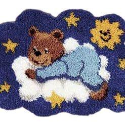 Latch Hook Kit Karpet Teddy Bear 54X40cm L18