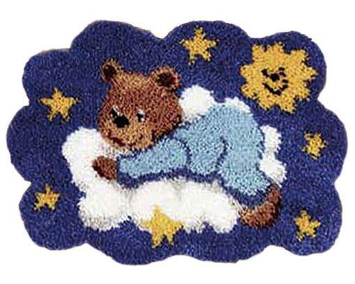 Latch Hook Kit Karpet Teddy Bear 54X40cm L18 1