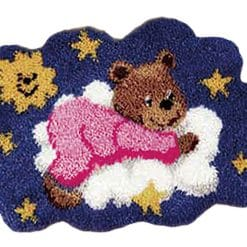 Latch Hook Kit Karpet Teddy Bear 54X40cm L19