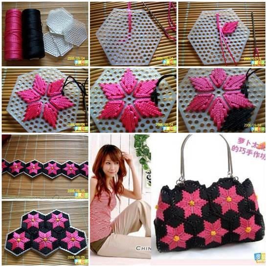 Sumber: http://www.icreativeideas.com/diy-pretty-handbag-from-stitch-on-plastic-canvas/