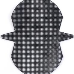 Plastic canvas dompet kecil hitam