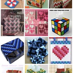 Plastic canvas project dan motif