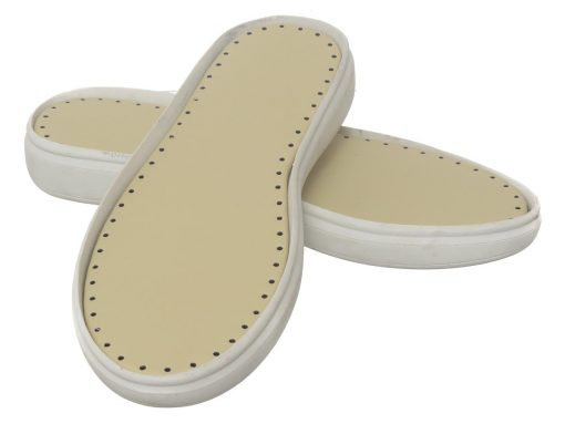 Sol sepatu rajut flat putih D1