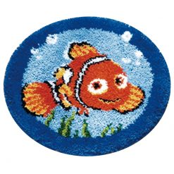 L41 Latch Hook Kit Karpet Rajut Nemo 50x50 cm