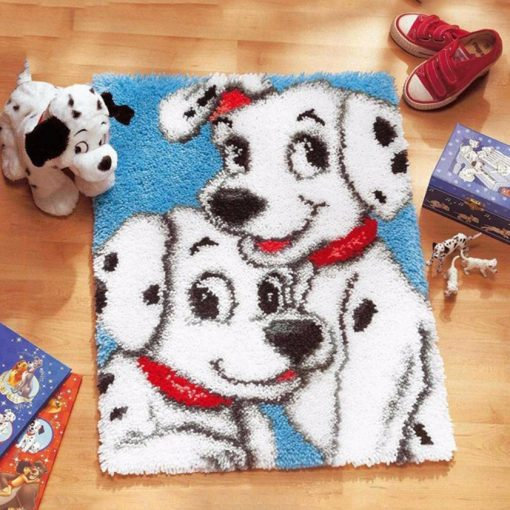 L45 Latch Hook Kit Karpet Rajut Dalmatian 50X42 cm 1