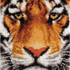 L59 Latch Hook Kit Karpet Rajut Harimau 69x54 cm