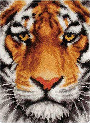 L59 Latch Hook Kit Karpet Rajut Harimau 69×54 cm 1