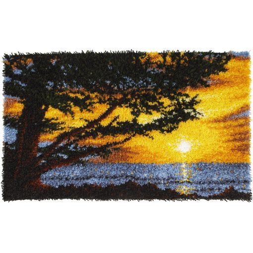 L60 Latch Hook Kit Karpet Rajut Sunset 100×60 cm 1