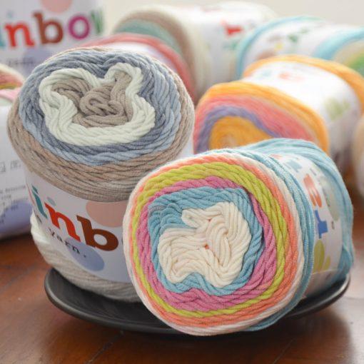 Benang rajut rainbow cakes yarn