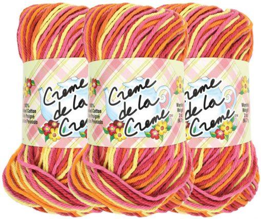 Benang Rajut Red Heart Creme De La Creme – Taffy Stripe 1