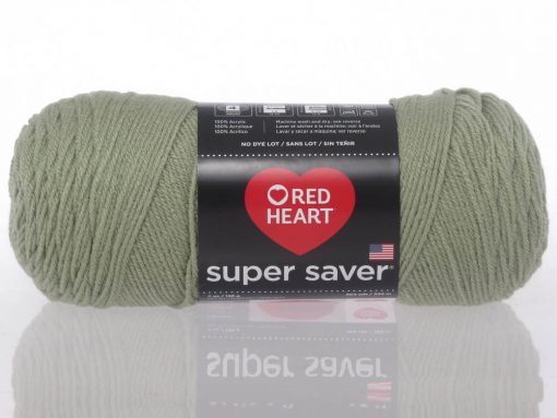Benang Rajut Red Heart Super Saver – Frosty Green 1