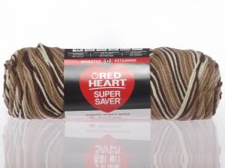 Benang Rajut Red Heart Super Saver - Shaded Brown