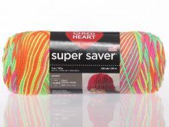 Benang Rajut Red Heart Super Saver - Day Glow