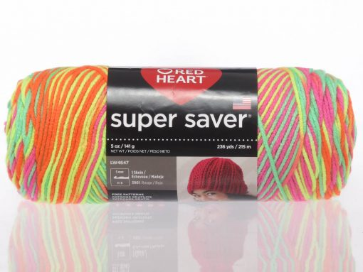 Benang Rajut Red Heart Super Saver – Day Glow 1