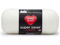 Benang Rajut Red Heart Super Saver Jumbo - Soft White