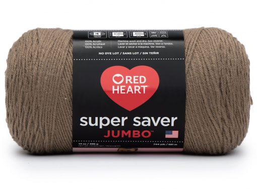 Benang Rajut Red Heart Super Saver Jumbo – Cafe Latte 1