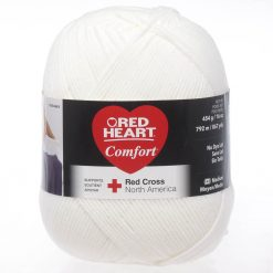 Benang Rajut Red Heart Comfort Yarn - White
