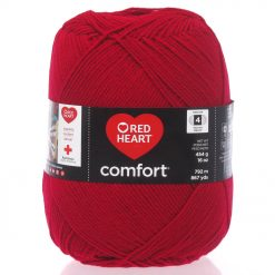 Benang Rajut Red Heart Comfort Yarn - Cardinal Red