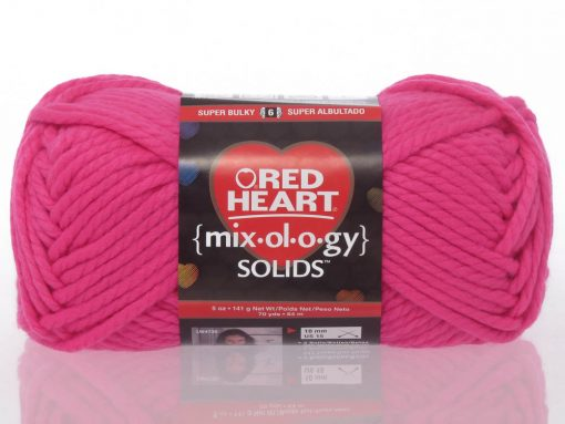 Benang Rajut Red Heart Mixology Solids – Pink 1