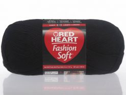 Benang Rajut Red Heart Fashion Soft - Black