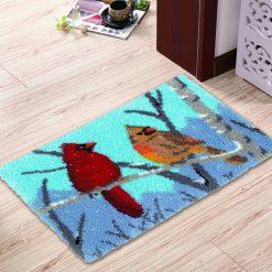 L82 Latch Hook Kit Karpet Rajut Dua Burung 60x40 cm