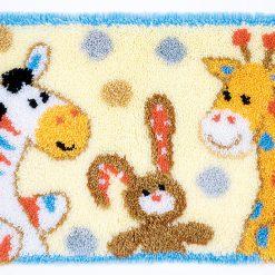 L86 Latch Hook Kit Karpet Rajut Kartun Hewan Lucu 60x40 cm