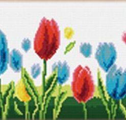 L91 Latch Hook Kit Karpet Rajut Tulip Warna Besar 162x50 cm