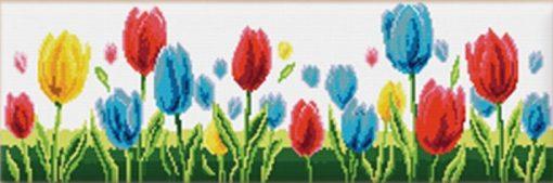 L91 Latch Hook Kit Karpet Rajut Tulip Warna Besar 162×50 cm 1