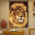 L94 Latch Hook Kit Karpet Rajut Lion 69×54 cm GT-026b
